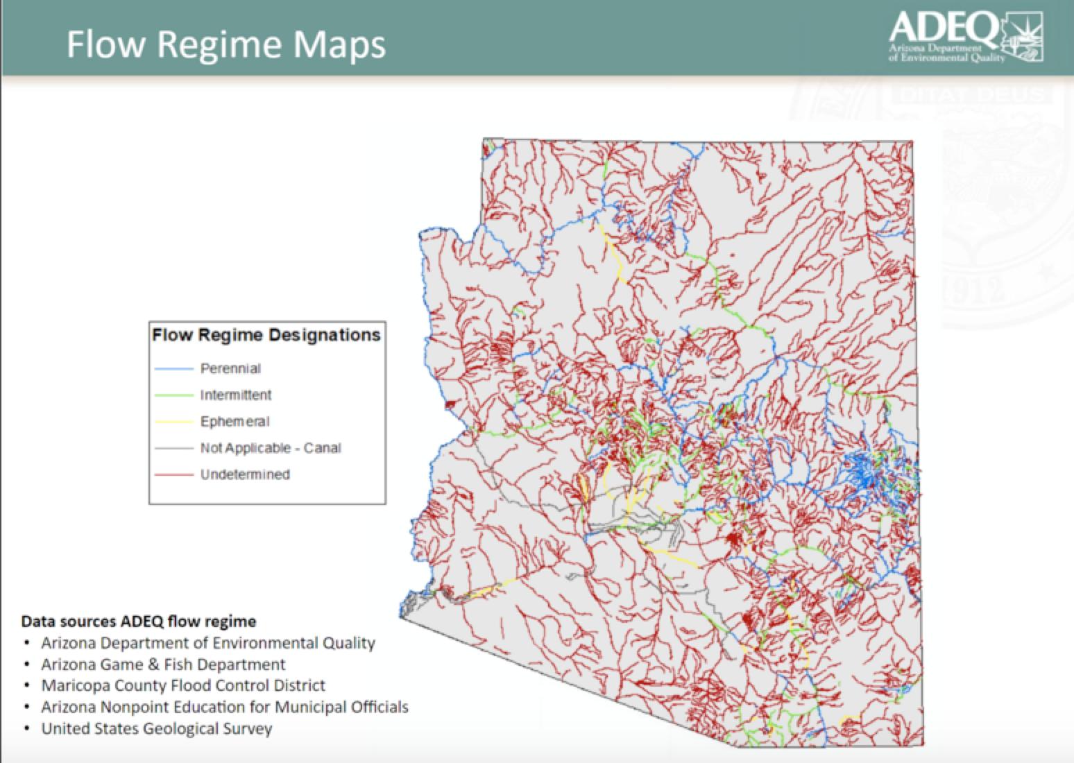 ADEQ flow regime map