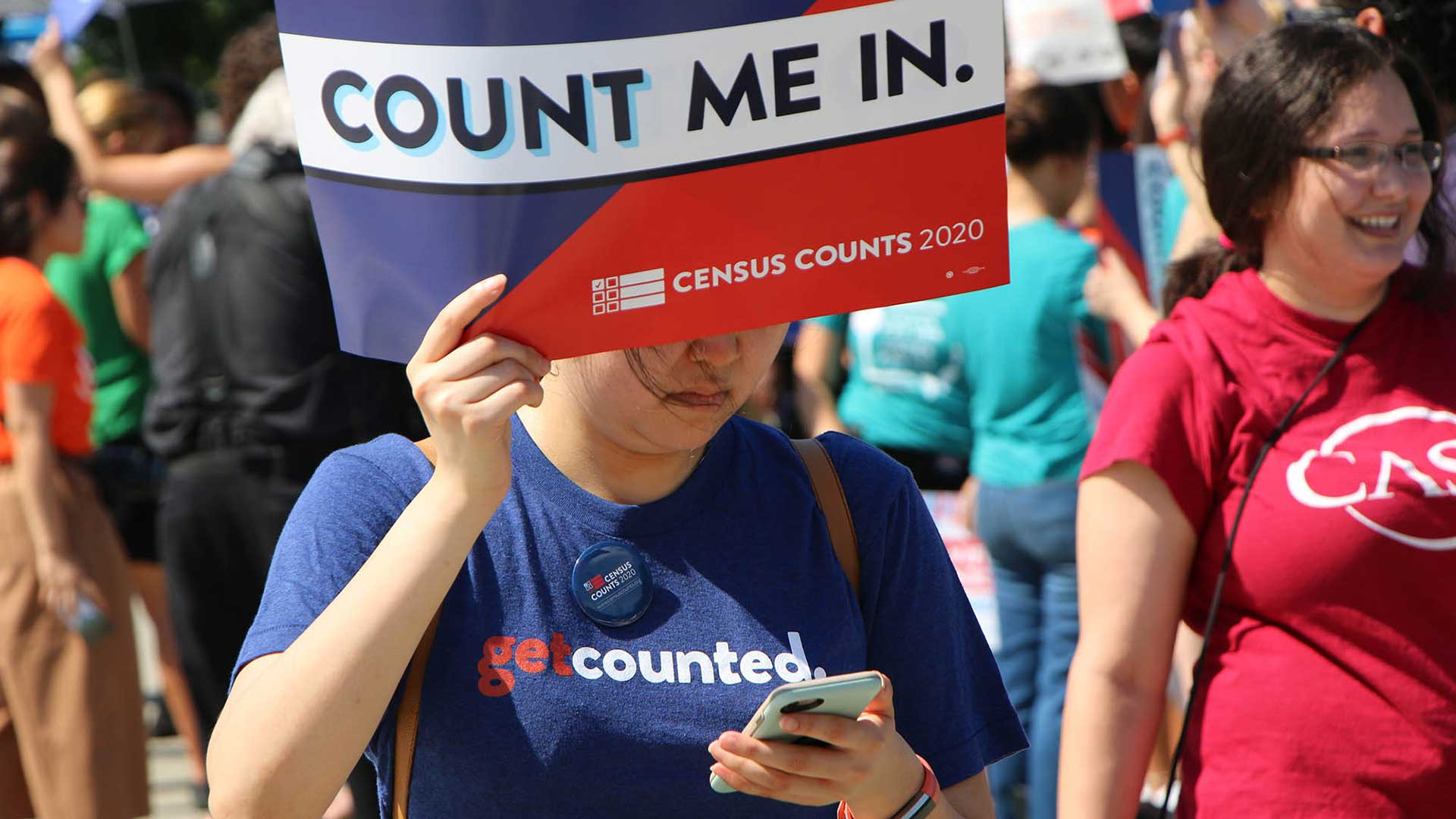 census sign protest citizenship