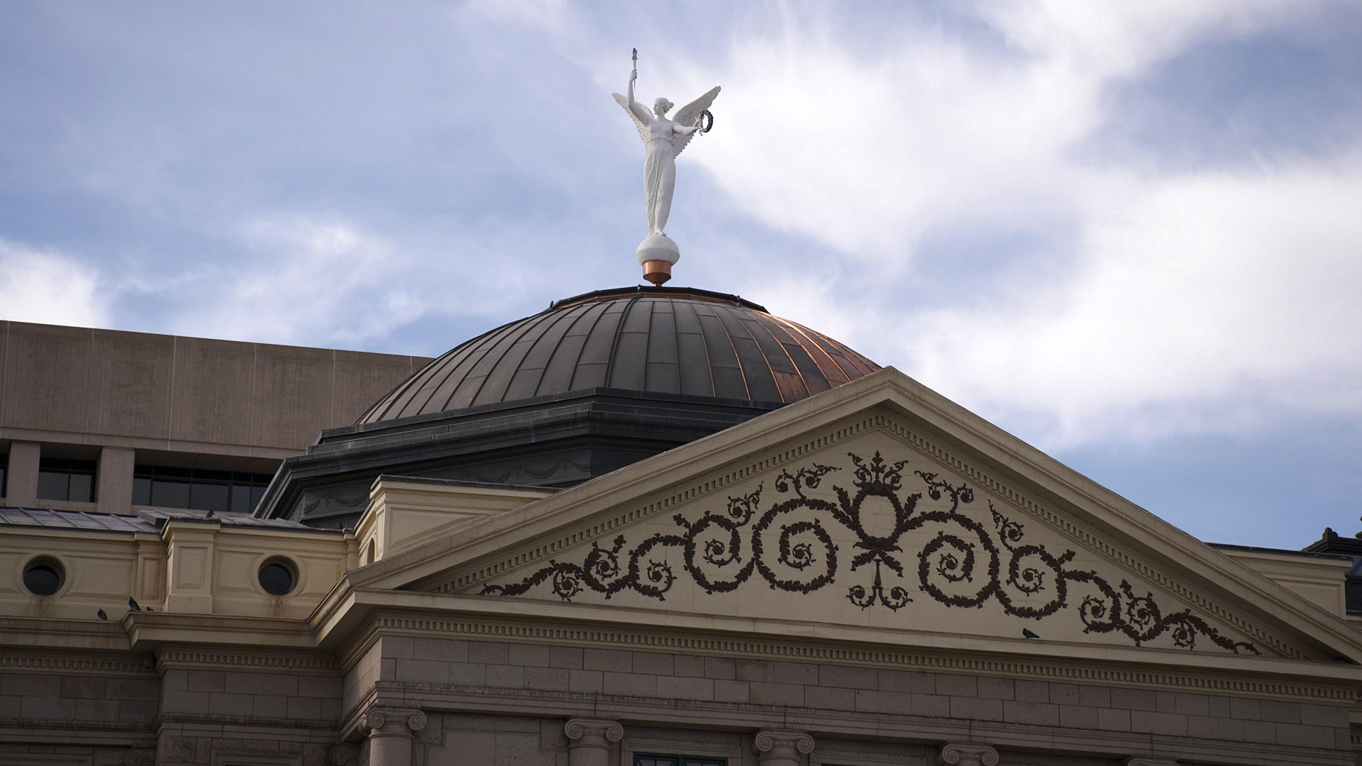 The dome atop the Arizona Capitol Museum at the State Capitol in Phoenix. January 2021.