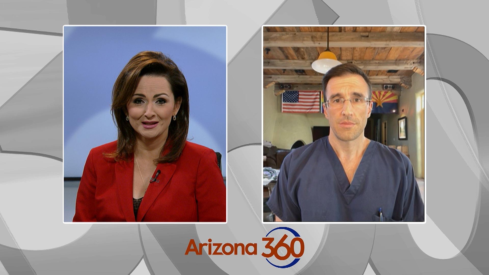 Pima County District 2 Supervisor Matt Heinz during an interview with Arizona 360 host Lorraine Rivera on Jan. 21, 2021.