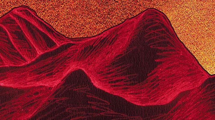 oak flat red hills illustration hero