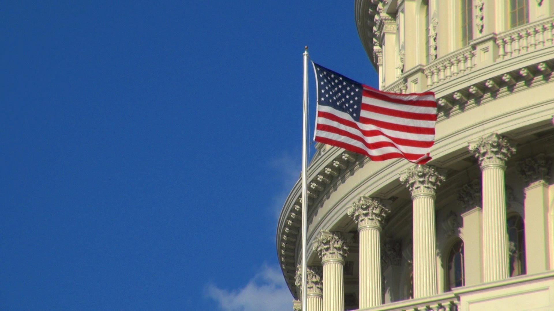 File image of a U.S. flag at the Capitol.