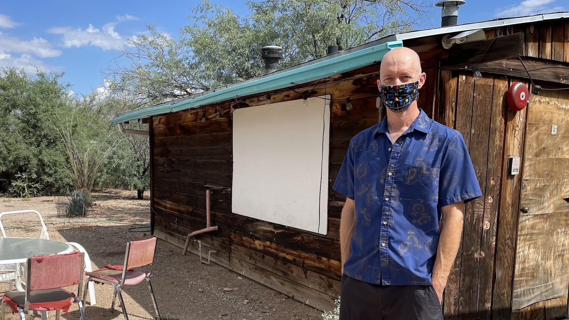 Dan Millis is a homeowner in the Blenman-Elm neighborhood of Tucson. He stands in front of a guest house in his backyard on October 5th, 2021 that he hopes to replace with a casita.
