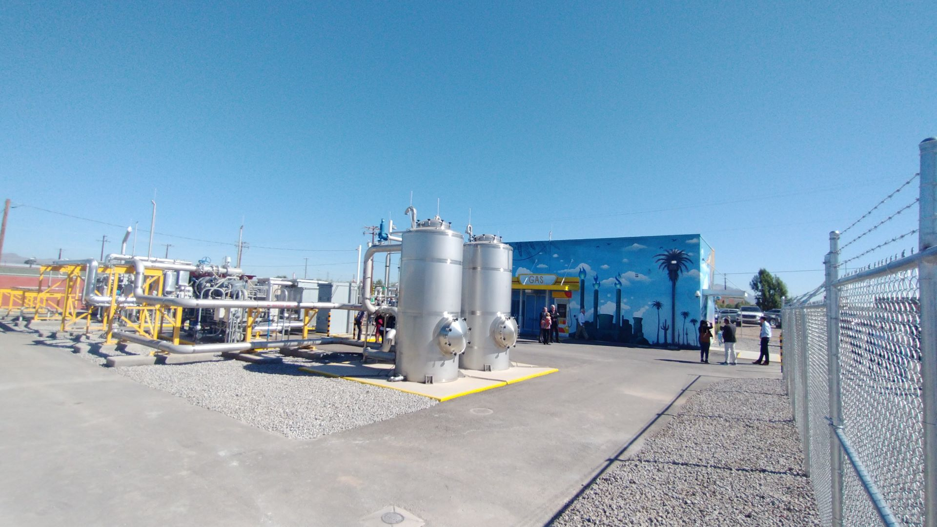 County officials and media tour a biogas refining plant at the Tres Rios Water Reclamation Facility, Oct. 21, 2021.  The newly-dedicated plant will supply renewable natural gas, or RNG, to Southwest Gas, reducing the utility's demand for fossil-fuel based gas.