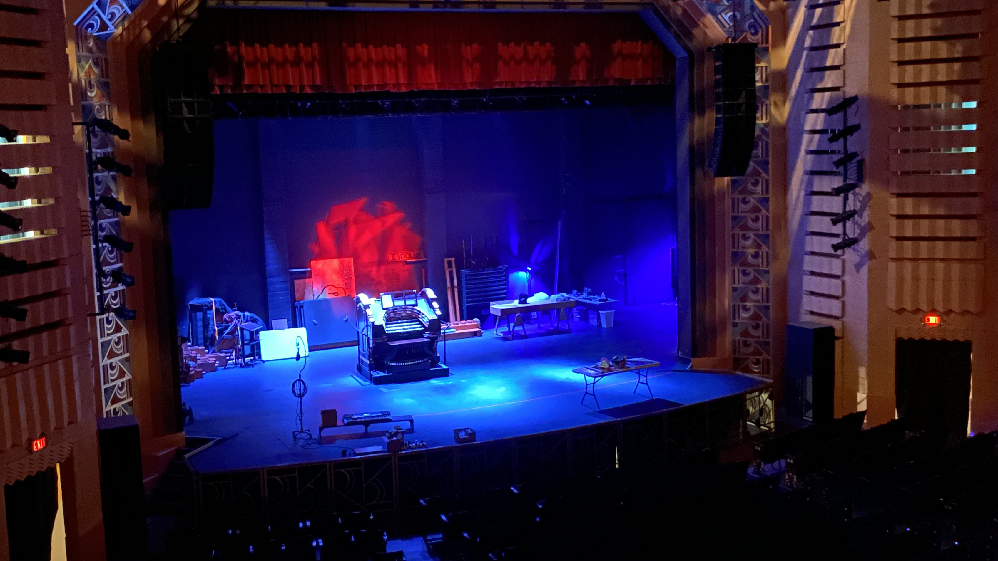 The interior of the Fox Tucson Theatre with the restored Wurlitzer organ at centerstage.