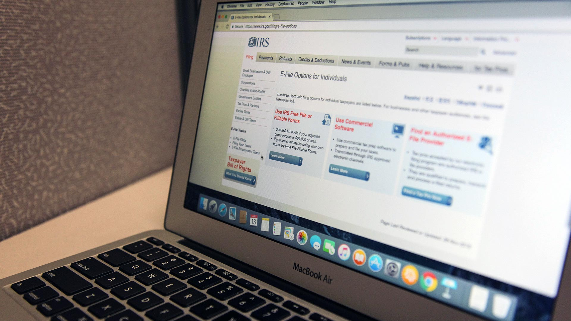 Volunteer tax preparers will take information and file online.