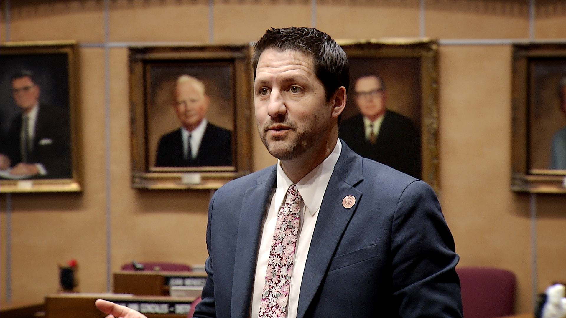 Republican State Sen. Paul Boyer on the Arizona Senate floor May 22, 2019.