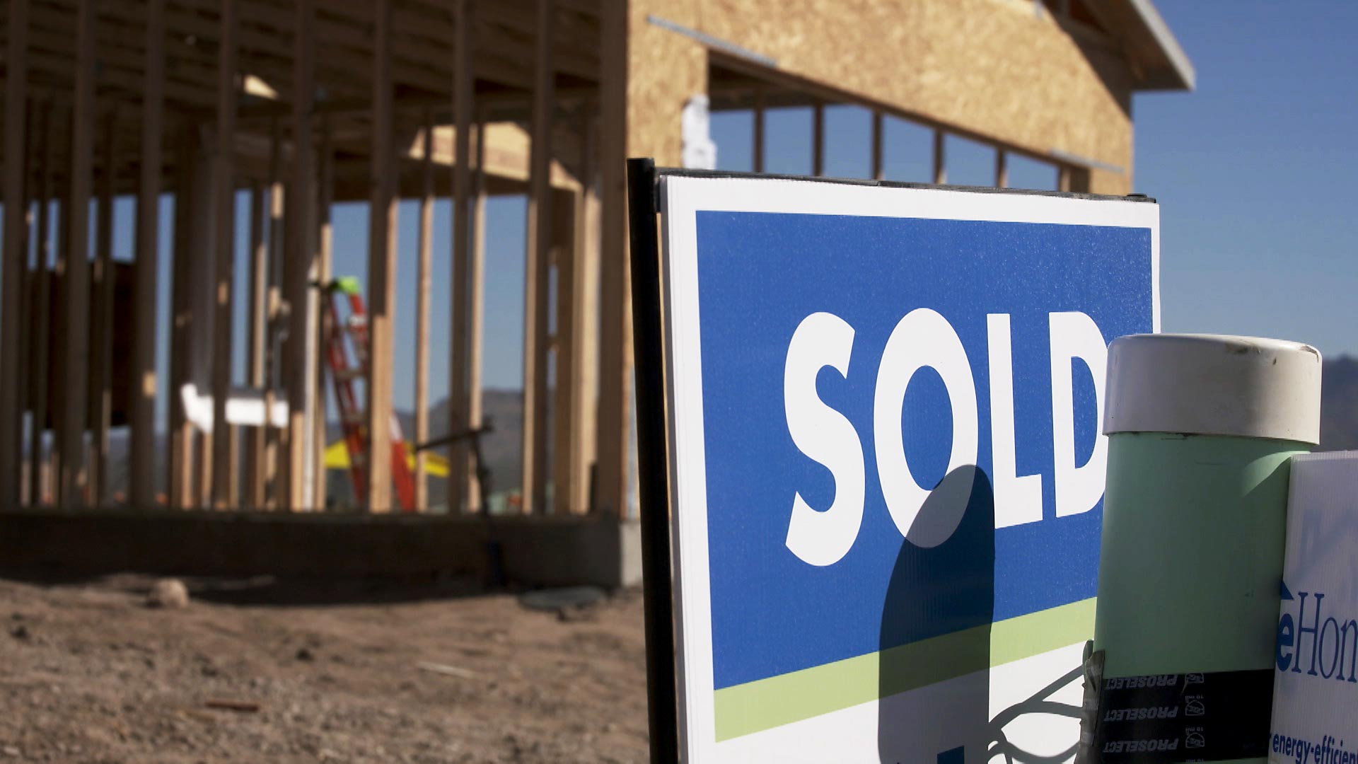 A sold sign outside of a Meritage Home under construction at a community development in Marana on March 17, 2021.