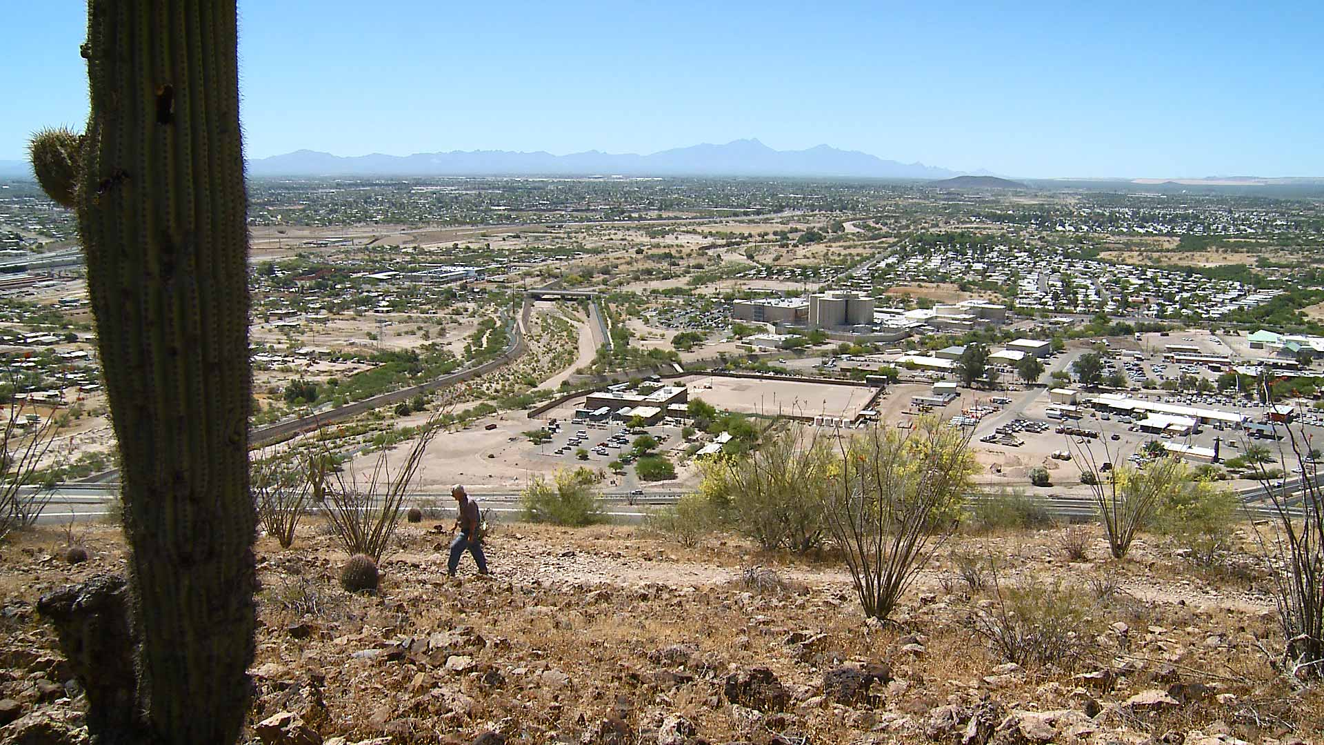 A view of Tucson from a hiking trail on the city's west side.