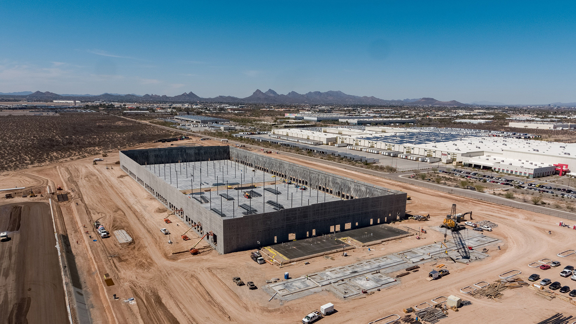 Amazon started construction on the new sort center in Tucson in January 2021.