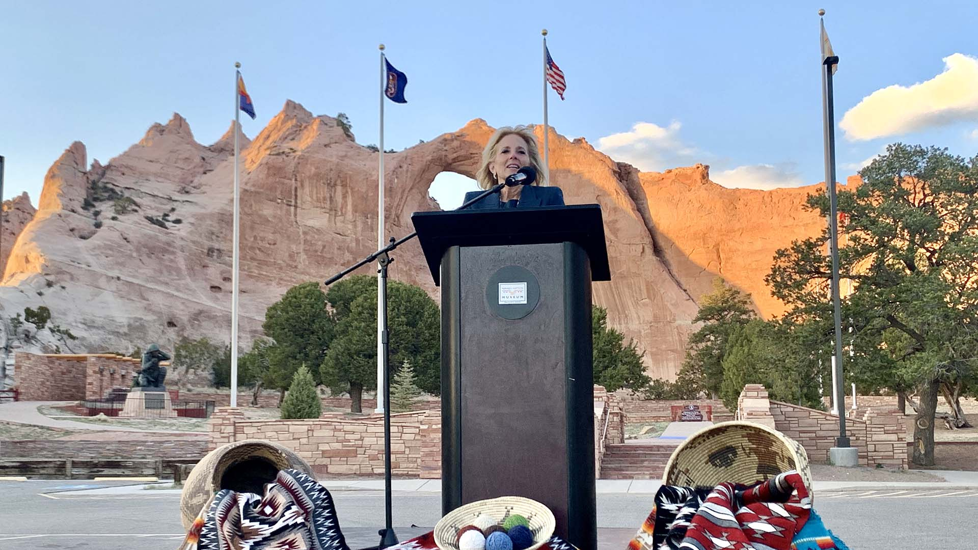 First Lady Dr. Jill Biden travels to Window Rock, Arizona, within the Navajo Nation April 22-23, 2021, to learn about the needs of the tribal nation.