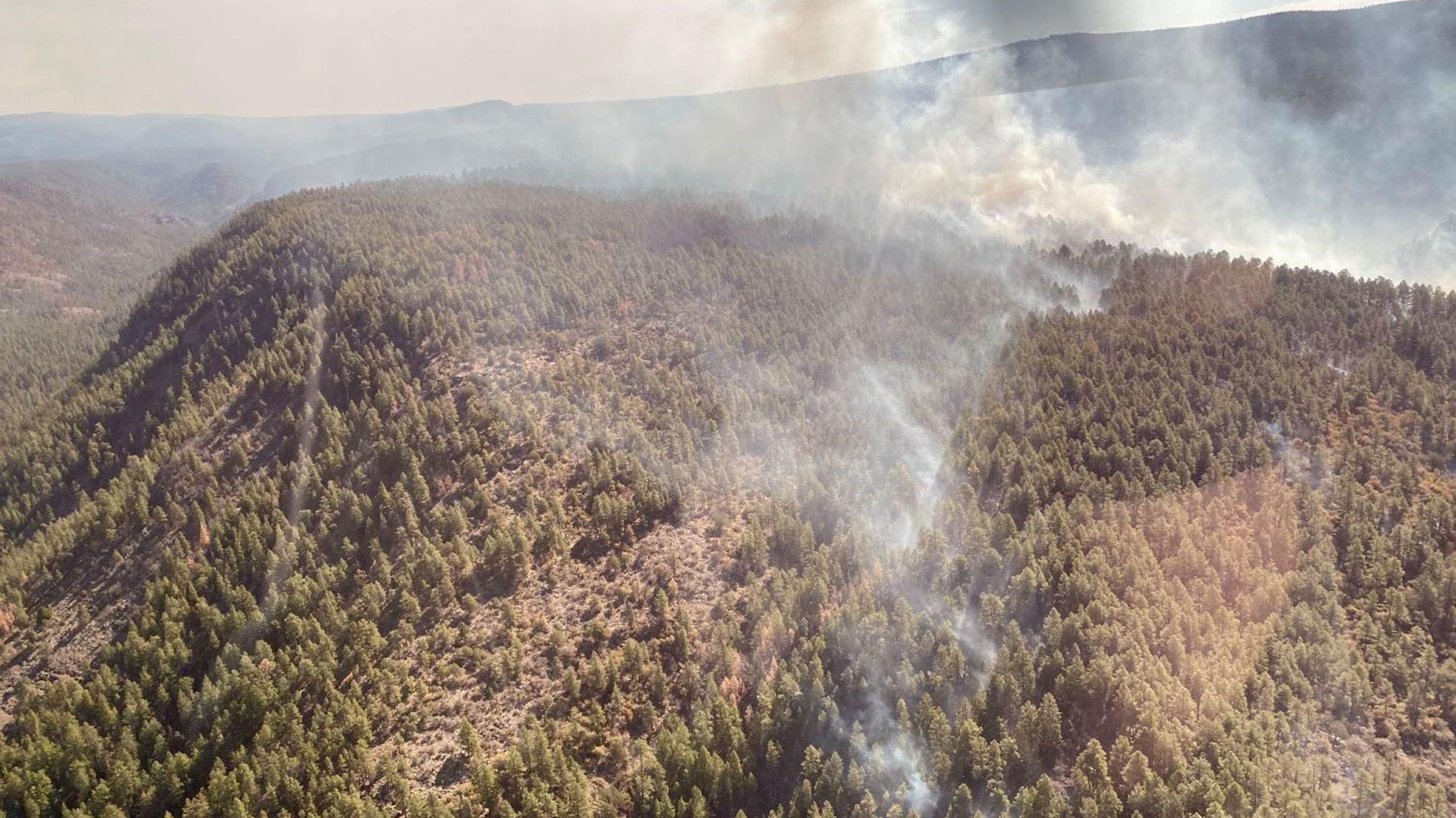The Bonito Rock Fire has been burning on the Fort Apache Reservation.