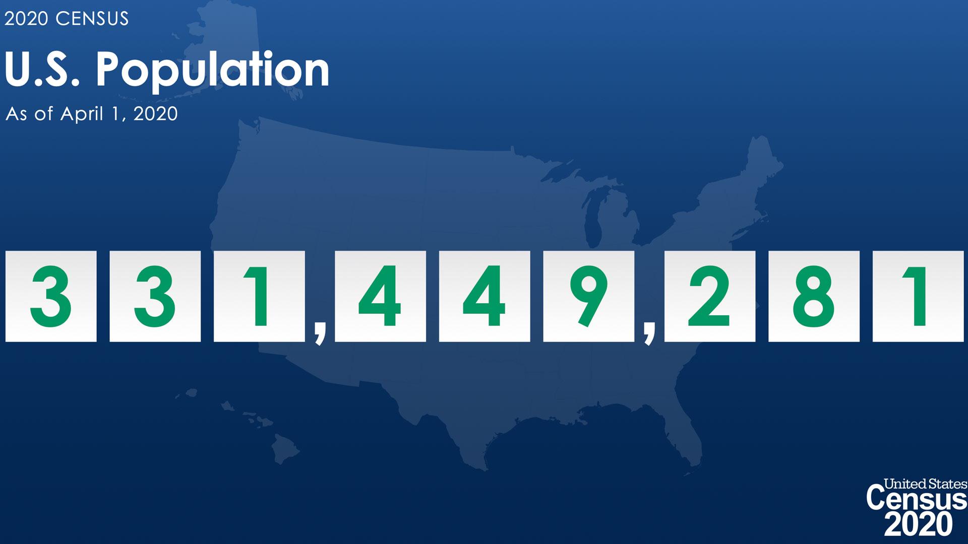 The U.S. population as of April 1, 2020, according to the U.S. Census Bureau.