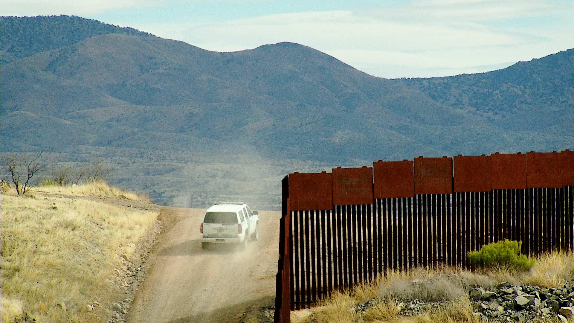 File image of a Border Patrol vehicle on patrol along the Arizona-Mexico border.