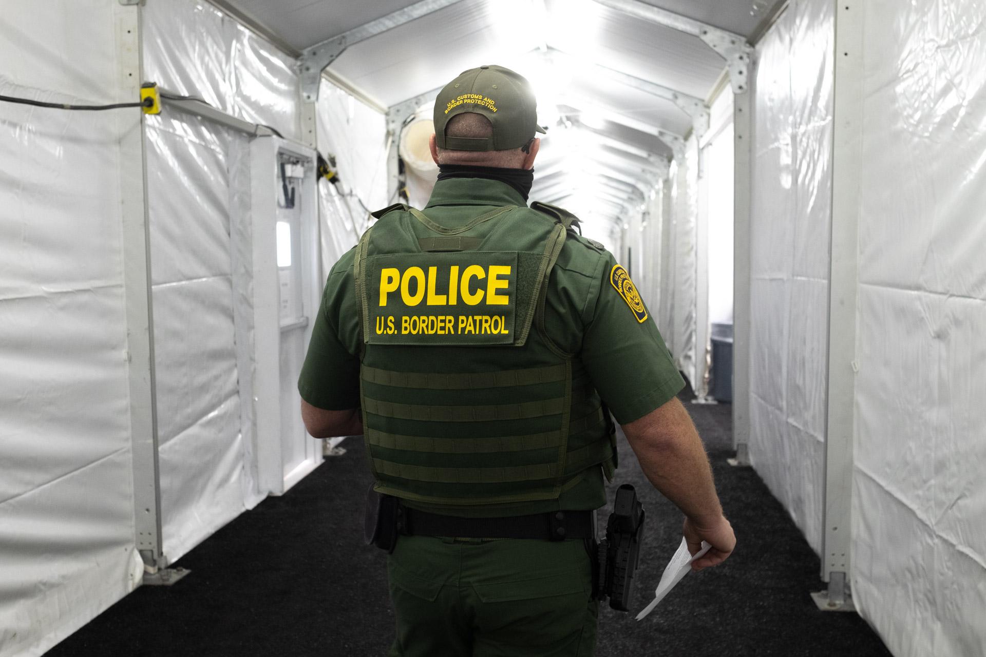 Tucson tent hallway
