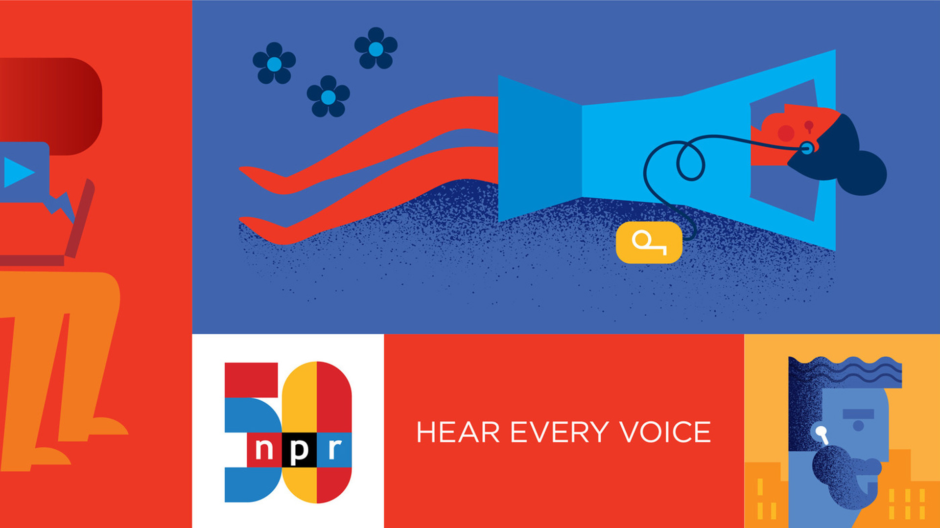 May 3, 2021, marks NPR's 50th anniversary of on-air original programming. NPR debuted with around 88 Member stations, 55 employees, and fewer than 2 million listeners. Now, more than 60 million people access NPR content for free on multiple platforms each week.