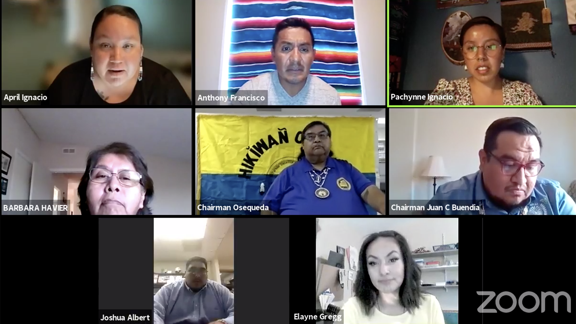 Members of Indivisible Tohono and Tohono O'odham Nation district leaders discuss the impacts of the pandemic in a Facebook Live video May 4, 2021.