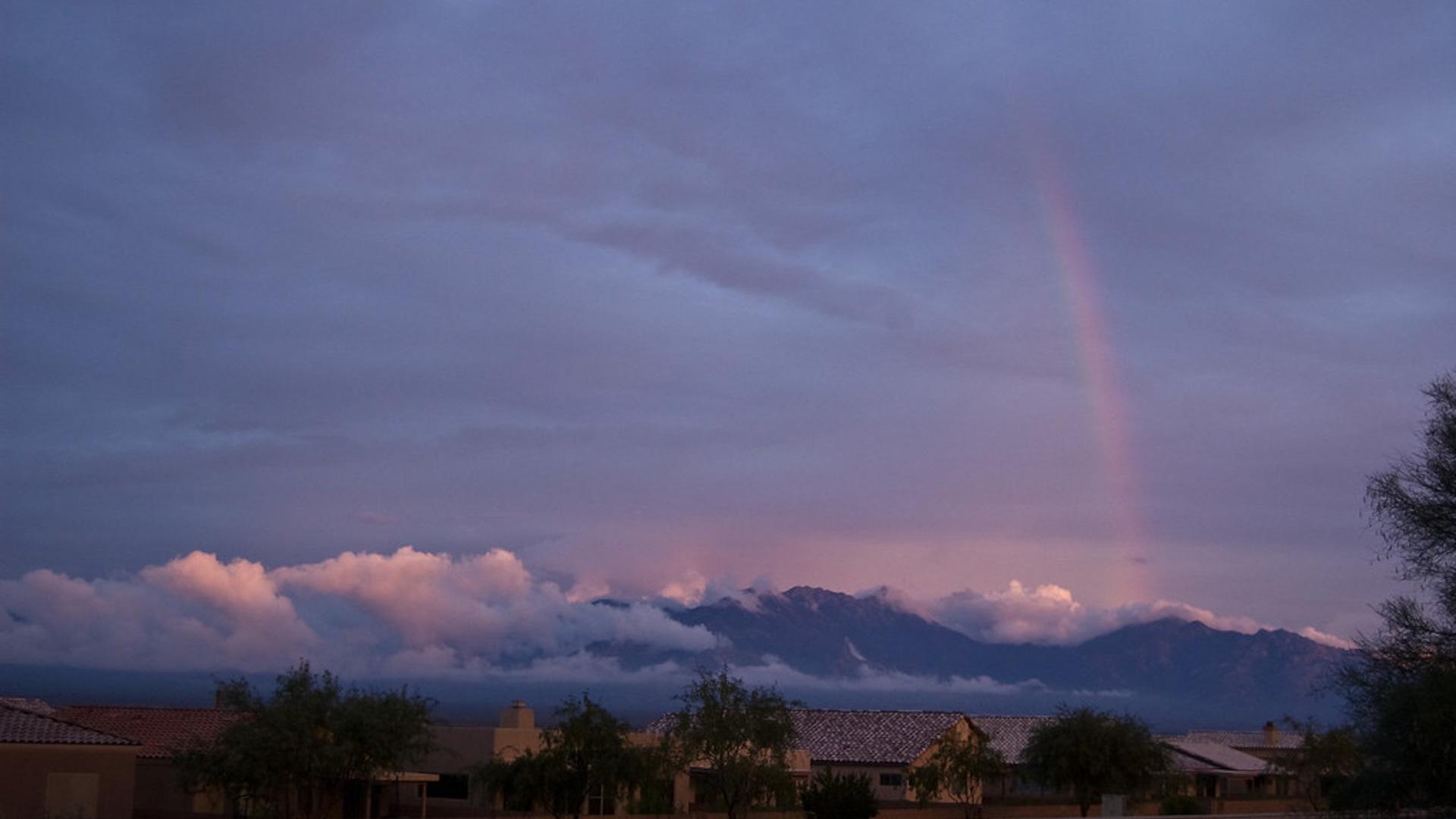 Monsoon weather over southern Arizona.