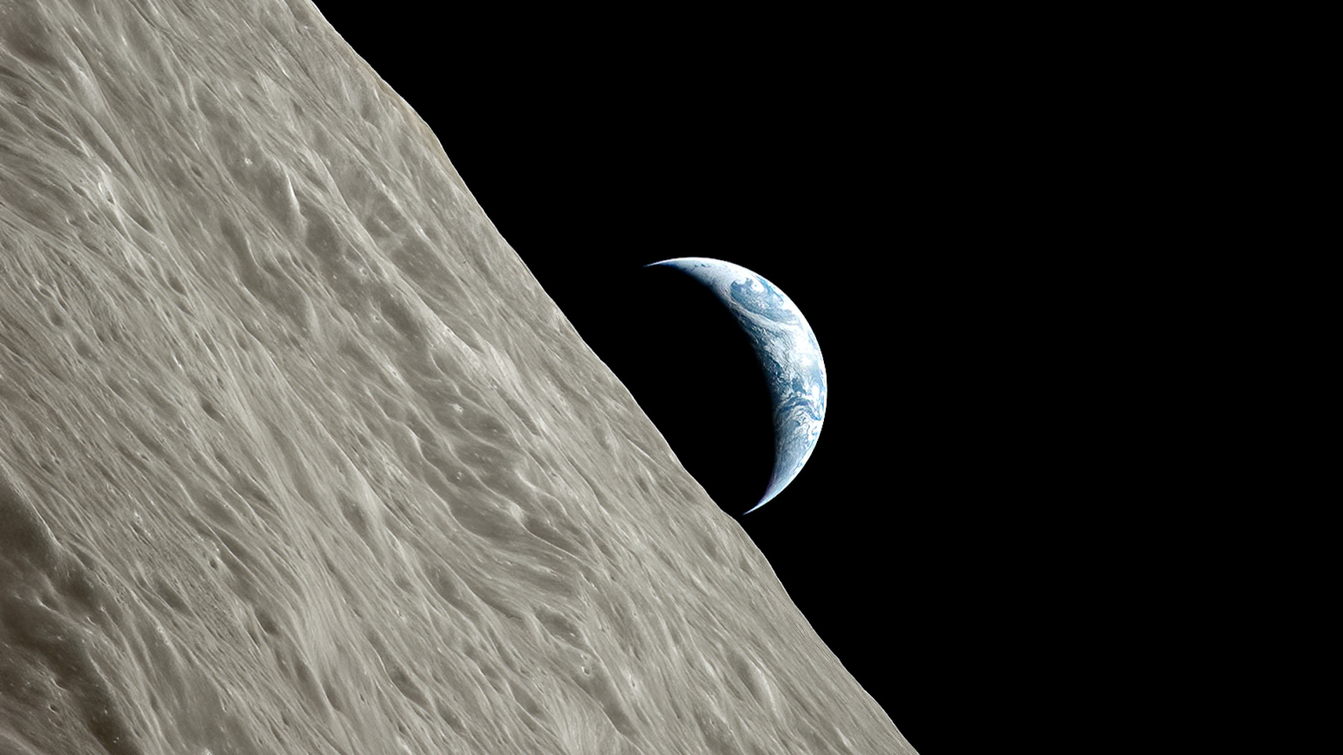 Photo of the Earth and Moon from Apollo 17, December 1972.