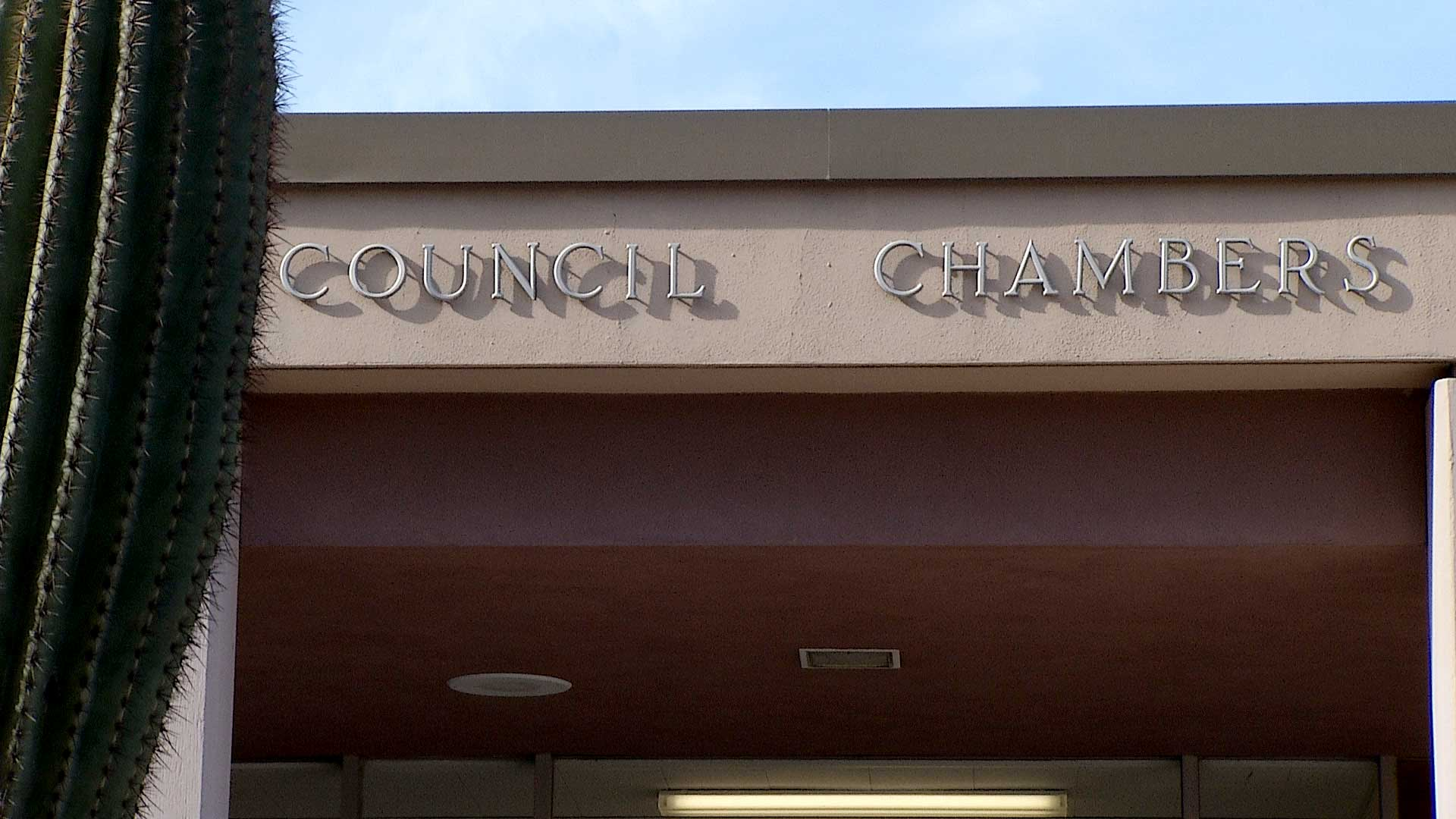 City of Tucson's council chambers in downtown.