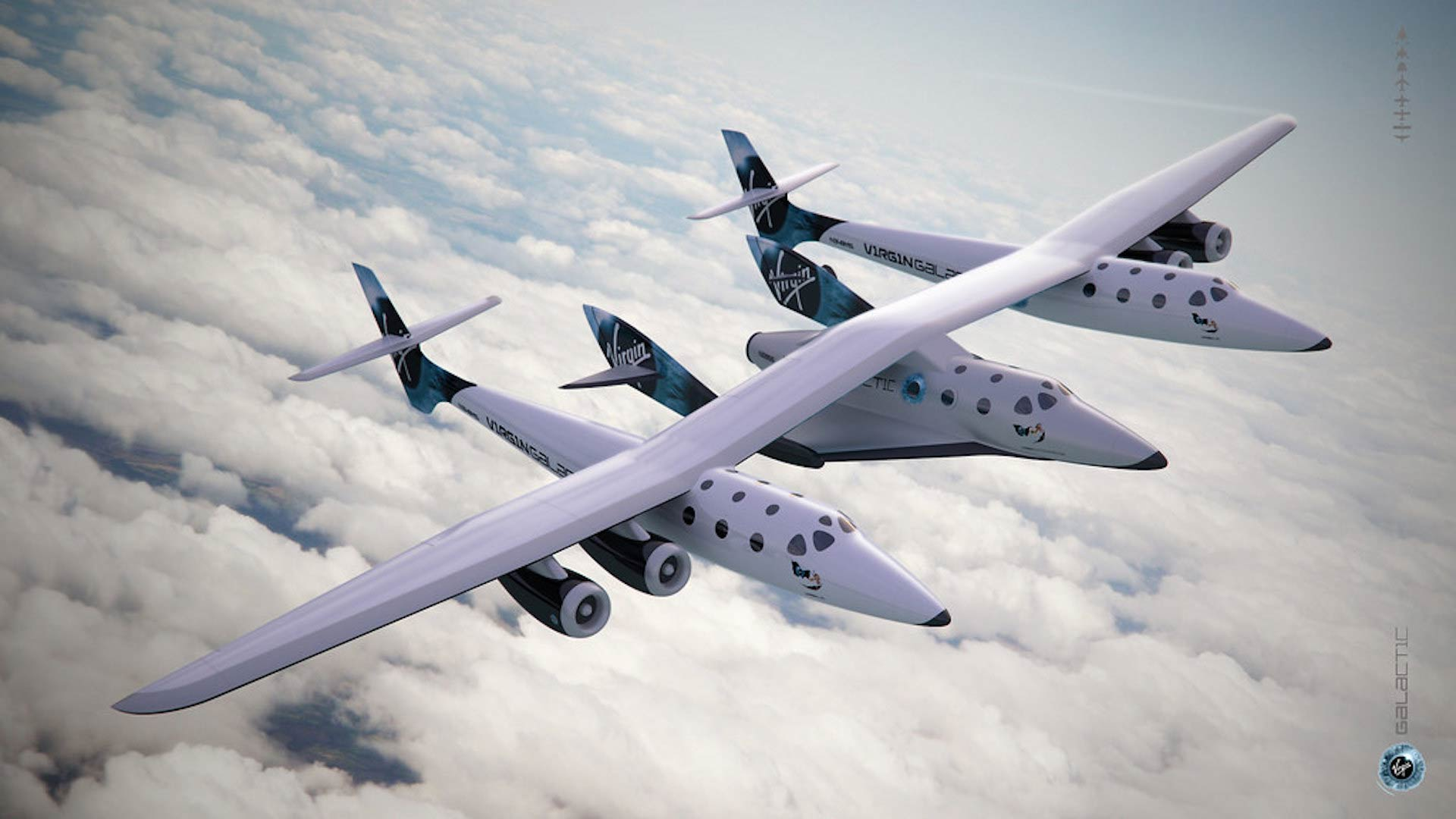 Virgin Galactic's Mothership and SpaceShip Two.