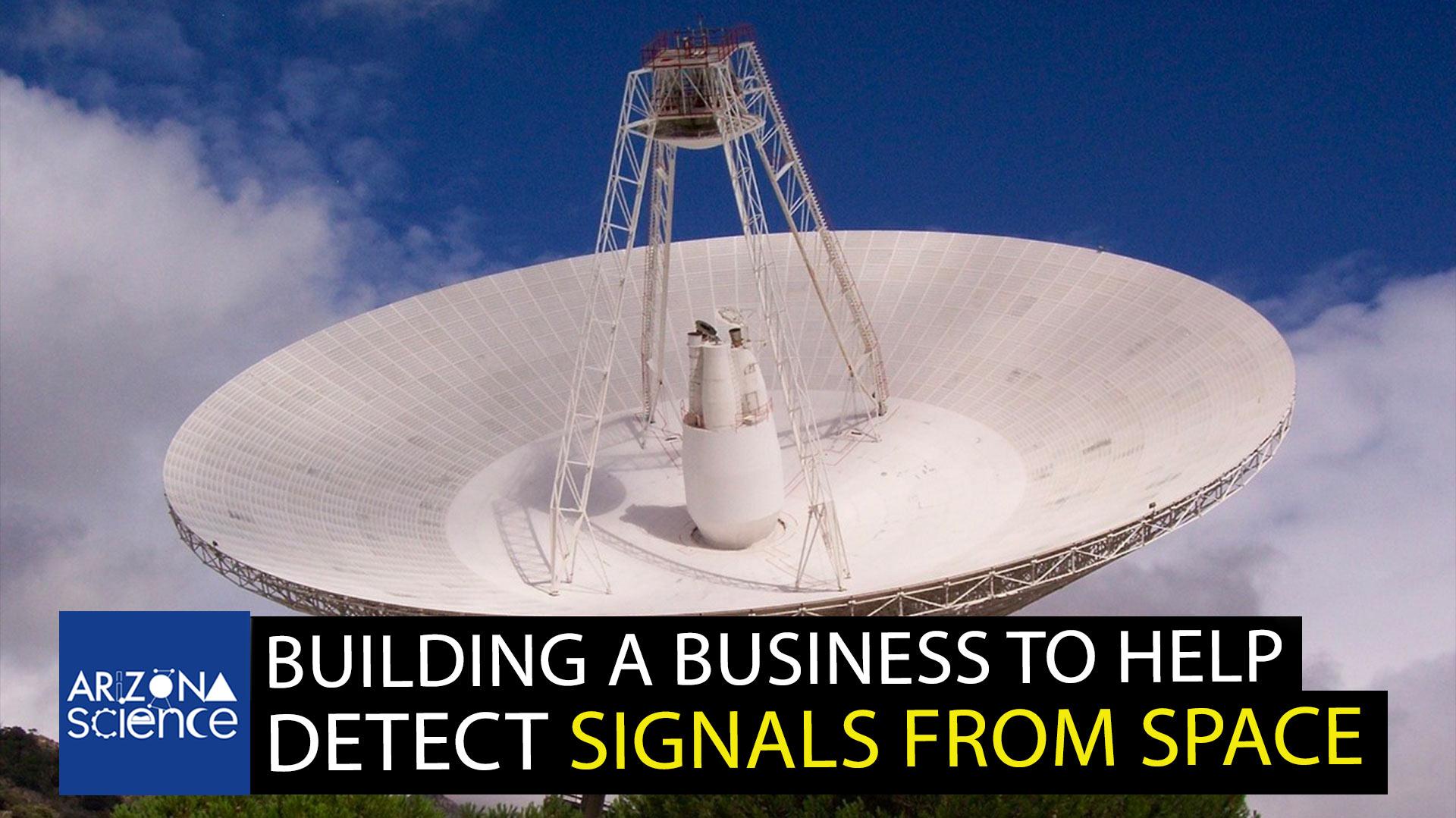 Dish radio telescope antenna