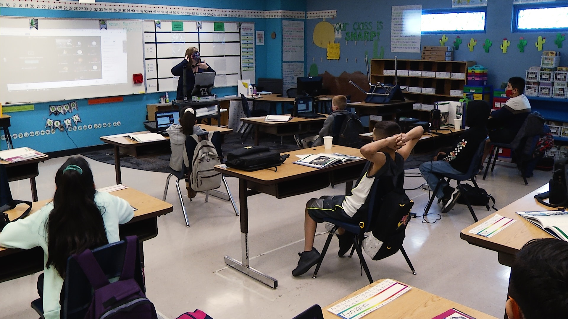 A classroom in the Sunnyside Unified School District.