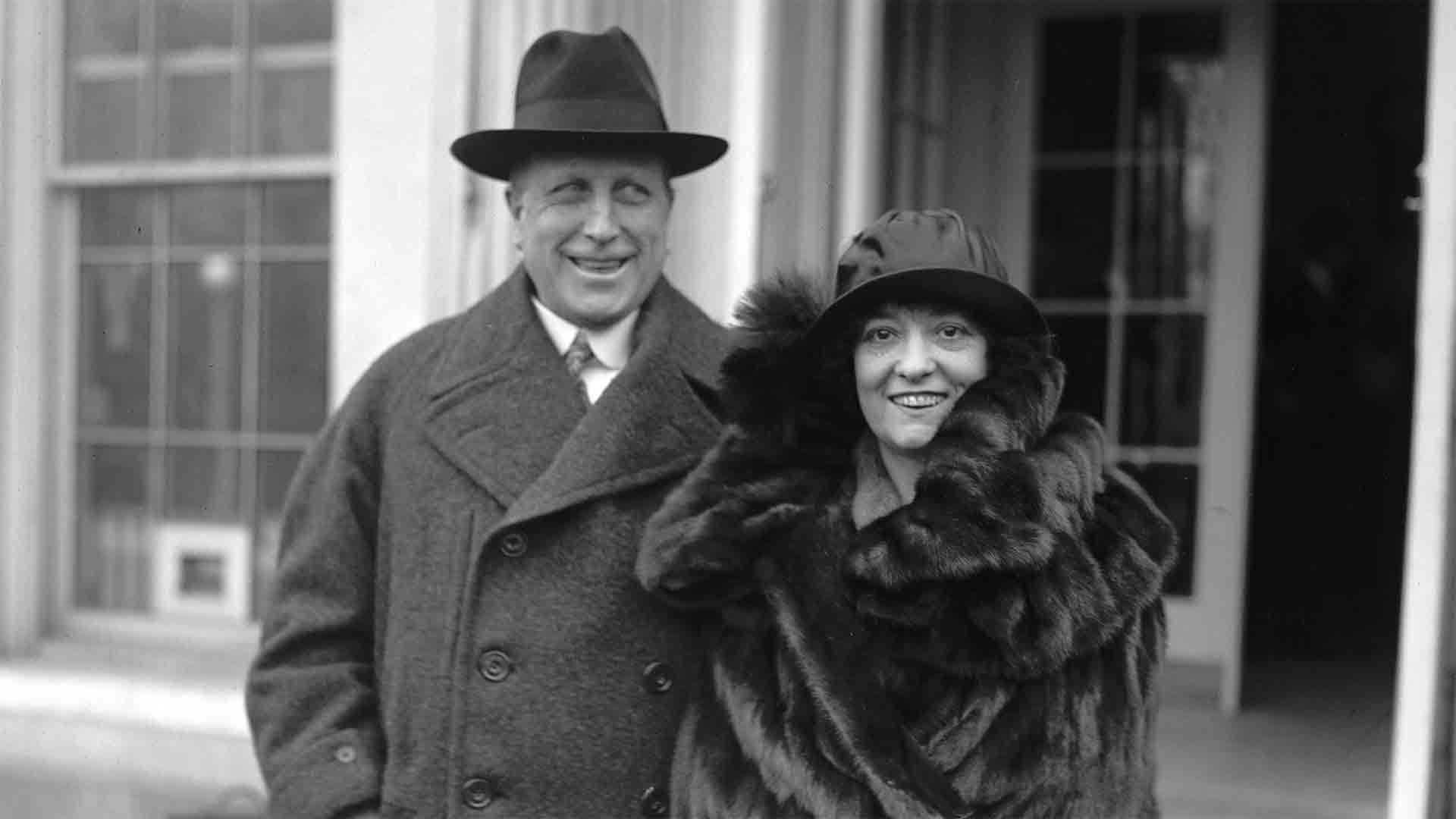 William Randolph Hearst with his wife, Millicent. 1923.s