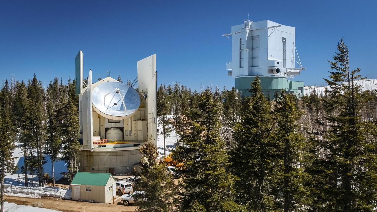 The University of Arizona ARO Submillimeter Telescope, one of eight among the Event Horizon Telescope Array, on Mount Graham near Tucson, Arizona.
