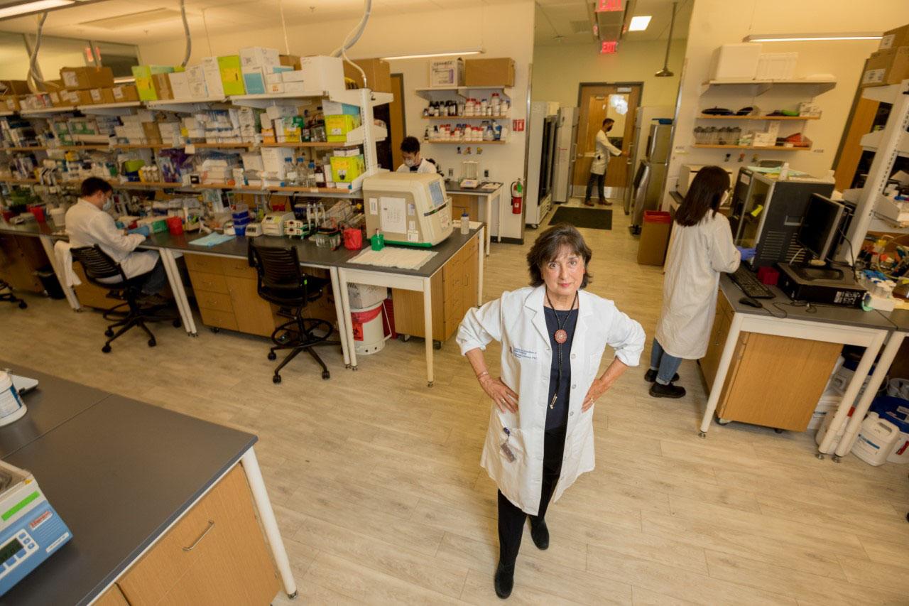 dr brinton in lab hero