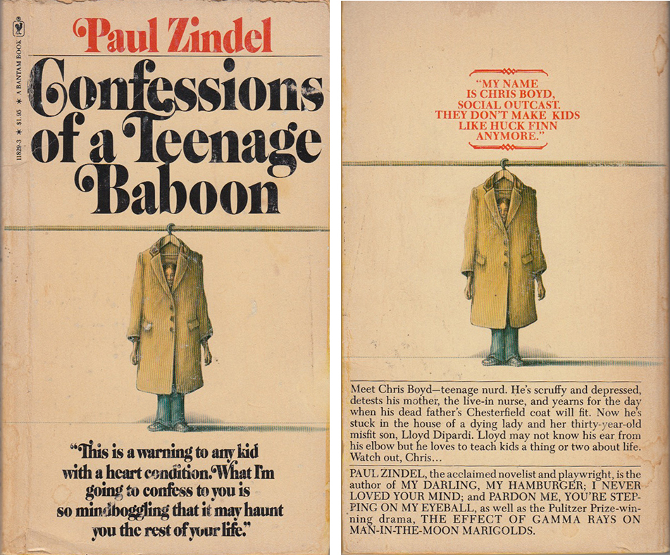 Confessions of a Teenage Baboon front and back