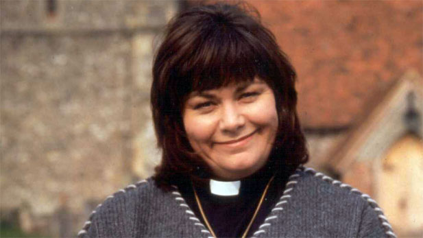 Dawn French is the hilarious Reverend Boadicea Geraldine Granger aka the Vicar of Dibley!