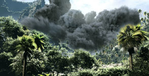 Visualization of Toba eruption
