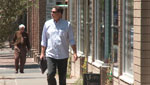 Michael Keith strolls the downtown Tucson streets