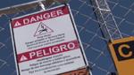 Virtual Fence Danger Sign