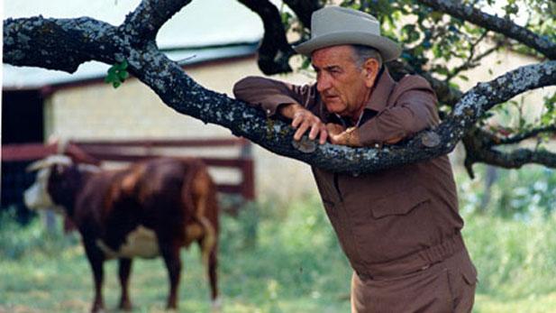 LBJ at ranch