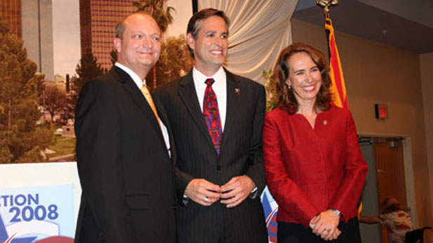 Tim Bee, Christopher Conover and Gabrielle Giffords