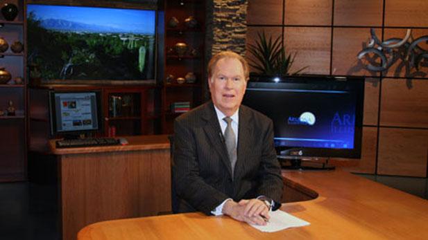 """Bill Buckmaster on the set of """"Arizona Illustrated."""""""