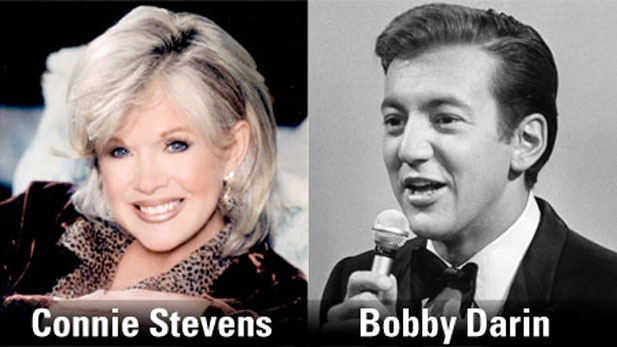 Singer-actress Connie Stevens and The legendary Bobby Darin.