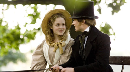 Kimberley Nixon as Sophy Hutton and Simon Woods as Dr. Frank Harrison