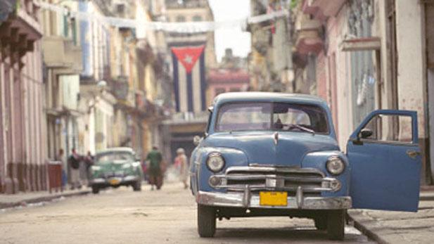 Street scene in Havana.
