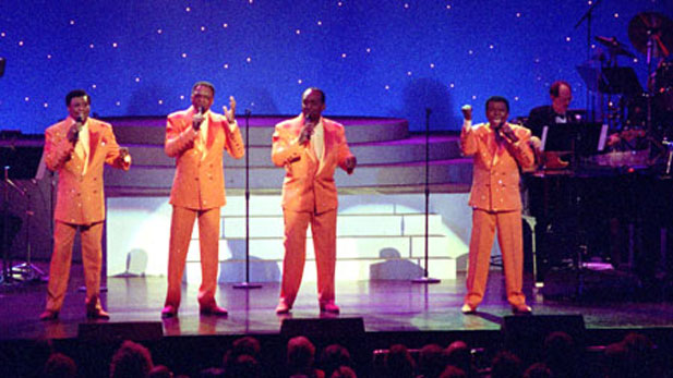 "Little Anthony and the Imperials sing their hits ""Tears on My Pillow,"" ""Going Out of My Head,"" ""Hurt So Bad"" and ""Shimmy Shimmy Ko Ko Bop."""