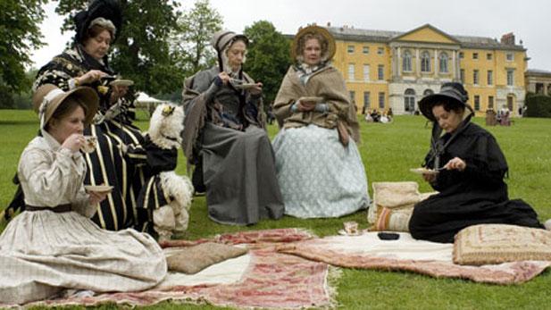 Cranford residents having tea