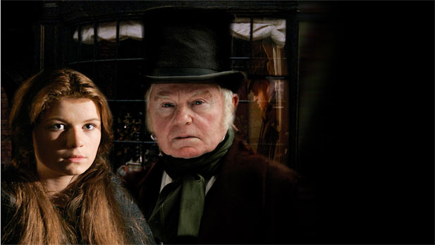 Sophie Vavasseur as Nell and Sir Derek Jacobi as Grandfather