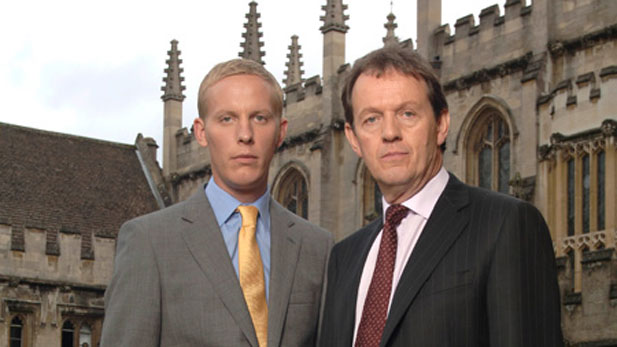 Kevin Whately (right) returns as Detective Inspector Robbie Lewis with his sharp young sidekick, DS Hathaway (Laurence Fox, left).