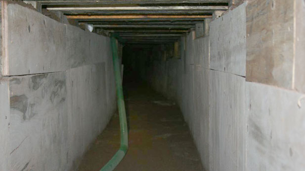 This smuggling tunnel featured a ventilation system to pump in fresh air.