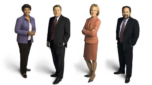Gwen Ifill, Jim Lehrer, Judy Woodruff, Ray Suarez.