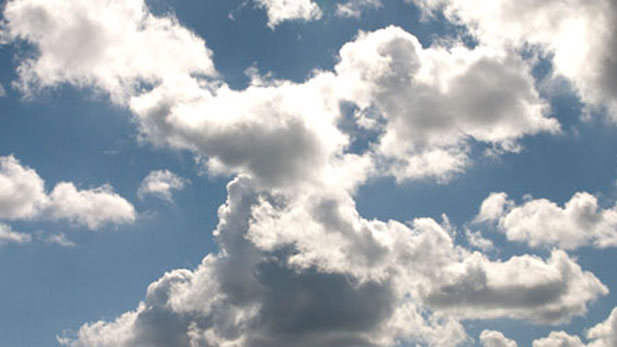 Clouds, like trees and rushing water, were considered mathematically unmanageable