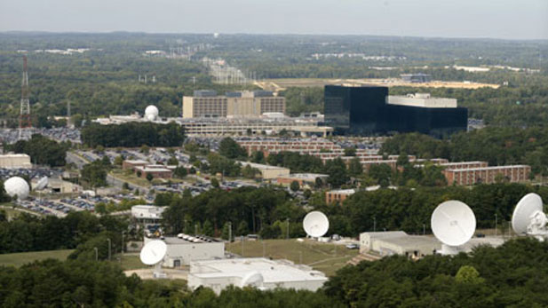An aerial view of the super-secret NSA headquarters.