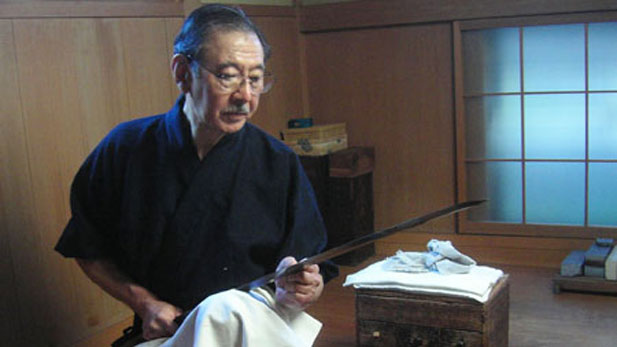 Master Takeshi Honami is a fourteenth generation sword polisher